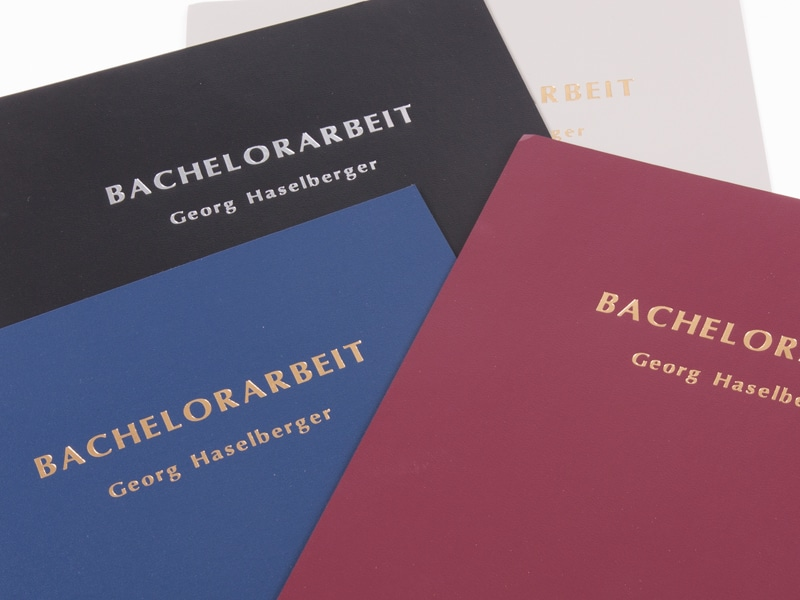 Leistungen - Bachelorarbeit binden, Hardcover mit Goldprägung