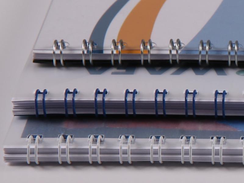 Kopieren und Scannen - Ringdrahtbindung farbig